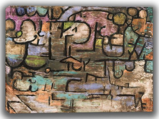 Klee, Paul: After The Flood. Fine Art Canvas. Sizes: A4/A3/A2/A1 (3922)